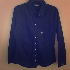 New York and Company Black Button Down Long Sleeve